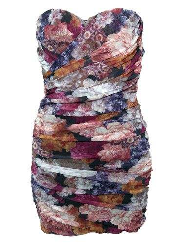 "<p>Ditch the wintery blacks and greys and opt for this floral fancy next time you're heading out on the town. Wear with neutral tones for a suitably spring look!</p>  <p>£49, <a href=""http://www.rarefashion.co.uk/floral-mesh-tube-dress.html"" target=""blank"">rarefashion.co.uk</a></p>"