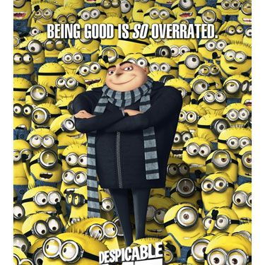 <p><strong>Despicable Me (voiced by Russell Brand, Jason Segal and Steve Carrell)</strong></p>