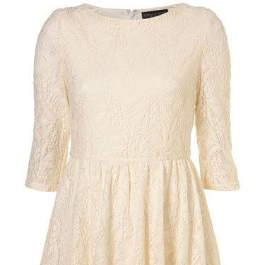 """<p>White dresses and black tights have become a bit of a micro-trend! If you want to try the monochrome match-up, pair this lace number with some opaques and ankle boots</p><p>£48, <a href=""""http://www.topshop.com/webapp/wcs/stores/servlet/ProductDisplay?beginIndex=0&viewAllFlag=&catalogId=33057&storeId=12556&productId=2294702&langId=-1&sort_field=Relevance&categoryId=208491&parent_categoryId=&sort_field=Relevance&pageSize=20"""" target=""""blank"""">topshop.com</a></p>"""