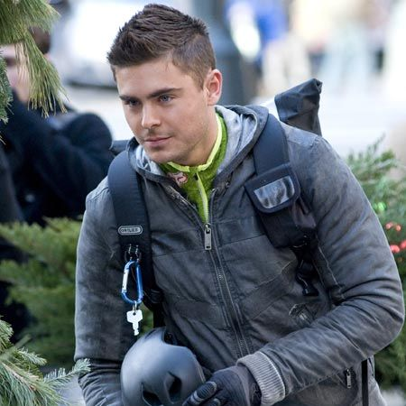 No, Zac Efron hasn't changed his profession to live the modest life of a bike messenger. The Hollywood hottie was just dressed like that for his role in film, New Year's Eve, in New York. The actor appears alongside Katherine Heigl, Halle Berry and Michelle Pfeiffer.