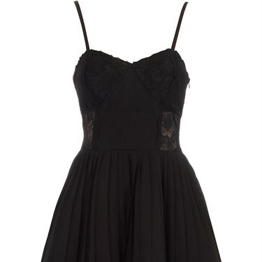 <p>A hot date, girlie night, black tie do... this lace-trimmed strappy cocktail number is your go-to-gown for any occasion where 'sexy' is the dress code</p>