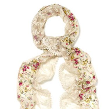 <p>Accessorize's spring/summer collection has just gone on sale and it's brimming with the trimmings for the new season trends. Firstly we're snapping up this utterly romantic ditsy lace scarf – and we won't be taking it off any time soon!</p>