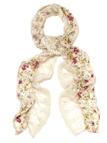"<p>Accessorize's spring/summer collection has just gone on sale and it's brimming with the trimmings for the new season trends. Firstly we're snapping up this utterly romantic ditsy lace scarf – and we won't be taking it off any time soon!</p>  <p>£16, <a href=""http://www.accessorize.com/all-accessories/ditsy-lace-scarf/invt/88733115/?bklist=icat,4,shop,accessoriesshop,newinaccessories"">accessorize.com</a> </p>"