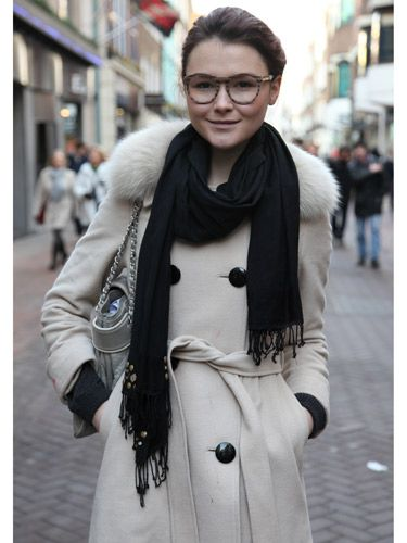 """<p>Proving monochrome is anything but boring, this look is completed with some striped frames for a modern and high fashion take on round frame spectacles.</p>  <p>Find out more about this <a href=""""http://ad-emea.doubleclick.net/clk;237625948;60905720;o""""target=""""_blank"""">style</a>.</p>"""