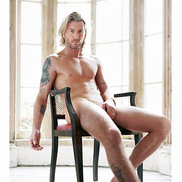 The footballer turned Strictly Come Dancing legend stripped off the sequins and showed off his amazing bod. Wow. From his golden balls to his twinkle toes, we love every inch of him...