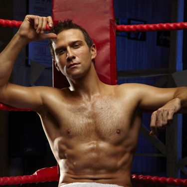 With just a towel to cover his modesty, a six-pack you can grate cheese on and an intense stare, this Eastenders hunk is a complete knock out!