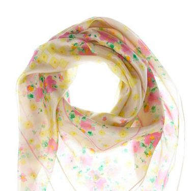 """<p>This gorgeous, vintage inspired flower print scarf is the perfect accessory to update your look for spring. At just £22 for 100% silk, it's a steal!</p><p>£22, <a href=""""http://www.missselfridge.com/webapp/wcs/stores/servlet/ProductDisplay?beginIndex=0&viewAllFlag=&catalogId=33055&storeId=12554&productId=2269213&langId=-1&sort_field=Relevance&categoryId=208110&parent_categoryId=208108&pageSize=40""""target=""""_blank""""> missselfridge.com </a></p>"""