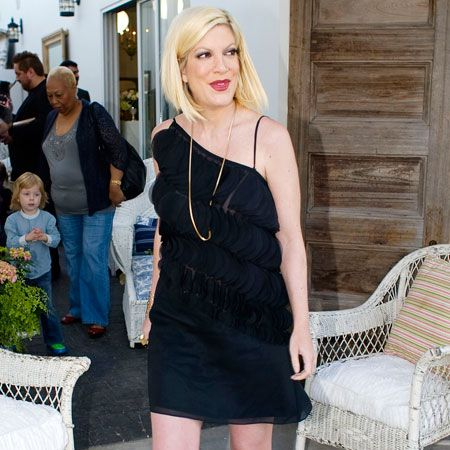 <p>Oh Tori Spelling, this is a very interesting outfit… The former 90210 star made an appearance at her store Inventori in Los Angeles this week. We know California recently had some showers, but are wellies really necessary?</p>