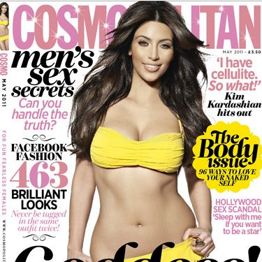 <p>Kim Kardashian on the 'perfect body' and cellulite. Say goodbye to your body hang-ups with our 96 ways to love your naked self. Facebook fashion finds – 463 brilliant looks! Men's sex secrets – can you handle the truth? Plus the Hollywood sex scandal you need to know about and read on to see the brilliant book you get FREE. Choose from one of these, each worth £7.99...</p>