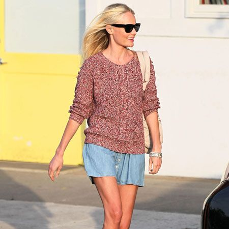 <p>Back from her Mexican break (where she dared to bare and got snapped topless), Kate Bosworth was glowing back in Los Angeles. As well as being jealous of her boyfriend, Alexander Skarsgard, we want her Isabel Marant cable knit. Not fair! </p>