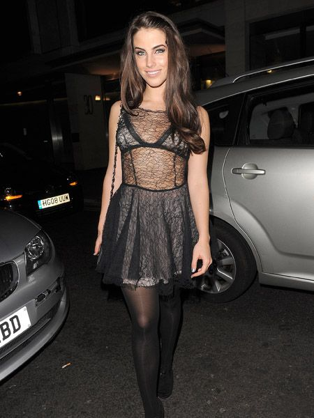 <p>Wow, no wonder 90210 actress Jessica Lowndes allegedly caught Jake Gyllenhaal's eye (the pair were linked last week) - she certainly left little to the imagination at she left Embassy nightclub in a cob-web lace frock </p>
