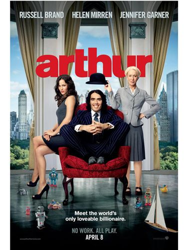 <p><b>Arthur (Russell Brand, Helen Mirren, Jennifer Garner)</b></p> <p>A remake of the 1981 film that starred Dudley Moore, here Russell Brand plays a wildly privileged playboy heir to a vast fortune who enjoys getting into boozy japes and capers in a Neverlandish rendering of New York. An innocent with a taste for too much booze, Arthur is the perfect role for Russell to be playful, random and very funny – in other words, for Russell to do what he does best and play himself. Jennifer Garner puts in a great turn as his corporate, highly-strung bride-to-be – and we can confirm the rumours about a weirdly evident chemistry between Russell and Helen Mirren. Basically, womankind is divided into two camps: pro and anti Brand. If you fall into the first, ignore the unanimous thumbs-down from the critics and go see this film. (Tip: watch out for Naked Russell in the closing scenes, and check out how freakishly small his nipples are)</p> <p><b>Fiona Cowood</b></p>
