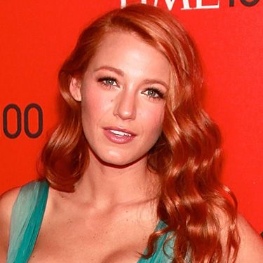 <p>Hellooo Jessica Rabbit! Blake is another star to trial red, opting for strawberry shades that look tasty as heck. She gets extra points for matching her brow colour flawlessly and the glossy side-falling curls</p>
