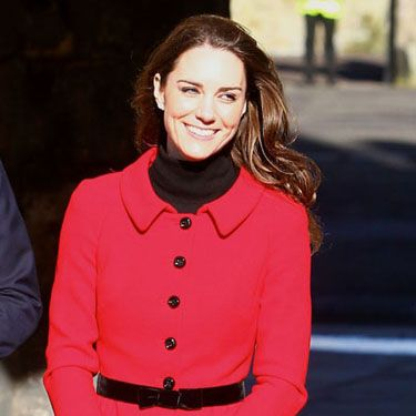 <p>Kate upped her royal fashion credentials in a Luisa Spangoli suit when returning to St. Andrews University, where she first met Wills, to launch its 600th anniversary celebrations</p>