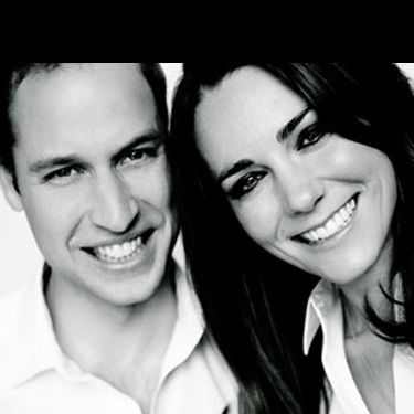 This newly released picture of Kate Middleton and Prince William was taken by Mario Testino and is included in today's Order of Service booklet.