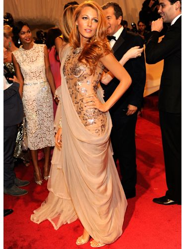 <p>Wow! Once again Blake stole the show in Chanel. This time she worked a sari-style draped dress that she pulled off with aplomb</p>