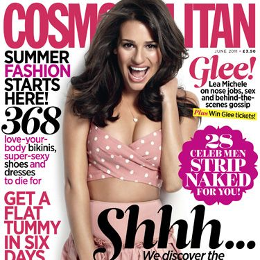<p>28 Celeb men stripped NAKED! Glee girl Lea Michele talks nose jobs, sex and behind-the-scenes gossip. Win Glee tickets! Get a flat tummy in six days and discover why men and women cheat... That's not all you get – there's 20% discounts at Dorothy Perkins AND New Look, plus click on to see the FREE Dorothy Perkins bag. Phew!</p>