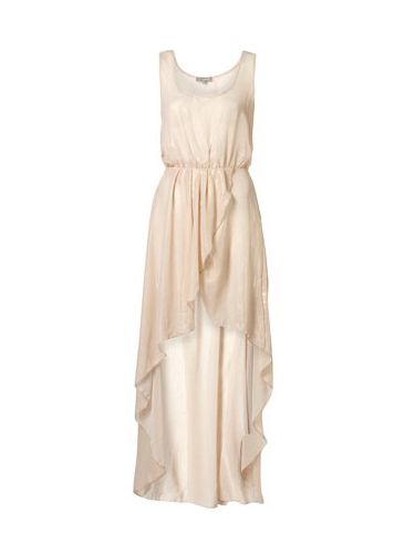 """<p>Shimmer your way through the prom party in this stunning beige lurex dress from Topshop. Pair with a diamonte necklace big enough to catch your date's eye on the dance floor</p> <br/>  £48, <a href=""""http://www.topshop.com/webapp/wcs/stores/servlet/ProductDisplay?beginIndex=0&viewAllFlag=&catalogId=33057&storeId=12556&productId=2437994&langId=-1&sort_field=Relevance&categoryId=208523&parent_categoryId=203984&pageSize=20&refinements=Price{2}~[15