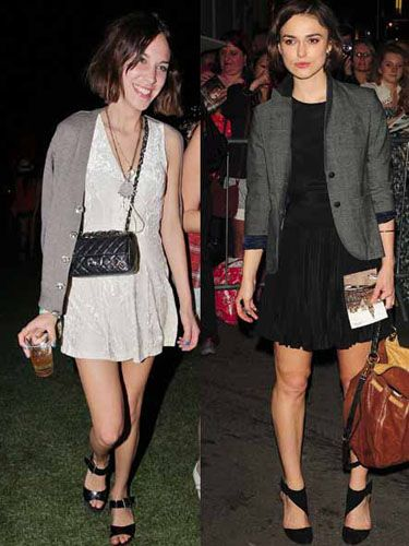 <p>Trust a Brit girl to know how to keep things casual. Keira and Alexa cross over to the grey area with their loose cover-ups</p>