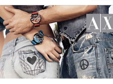 Wake up your wardrobe this weekend with some seriously cool customising at Armani Exchange. The brand has teamed up with LoveBullets to host in-store events that allow you to embellish any item from Armani Exchange with black Swarovski Crystallized emblems including wings, hearts, the peace sign and a musical note. Available when you spend £150 or more from Friday-Sunday at the Bluewater and Westfield stores.