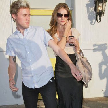 Brit model-turned-actress Rosie Huntington Whiteley is certainly adapting to the Hollywood life - here she is leaving Byron and Tracey hair salon after a 6 hour visit!