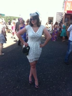 Kayleigh hit the prestigious Oaks Day with one person in mind; Jackie O! And she did it on a budget, in a £15 white lace dress and a hat she borrowed from a friend. Ok, ok, so the Irregular Choice shoes and Lulu Guinness bag maybe cost a bomb, but that's not the point...