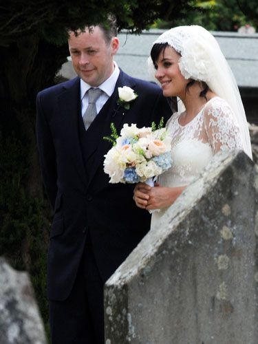 <p>Lily Allen married her boyfriend of two years Sam Cooper wearing a bespoke lace dress and a very wide smile. Sam took the opportunity to announce to the collected guests that Lily is at least twelve weeks pregnant. Double congratulations to the happy couple!</p>