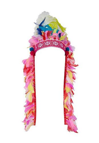 "<p>Have fun at the festival with some serious headwear like this pink multi-feather headdress from River Island. If this doesn't get some festival fashion attention, we don't know what will!?</p><p>£29.99, <a href=""http://www.riverisland.com/Online/women/jewellery/hair-accessories/pink-feather-head-dress-603136""target=""_blank""> riverisland.com </a></p>"