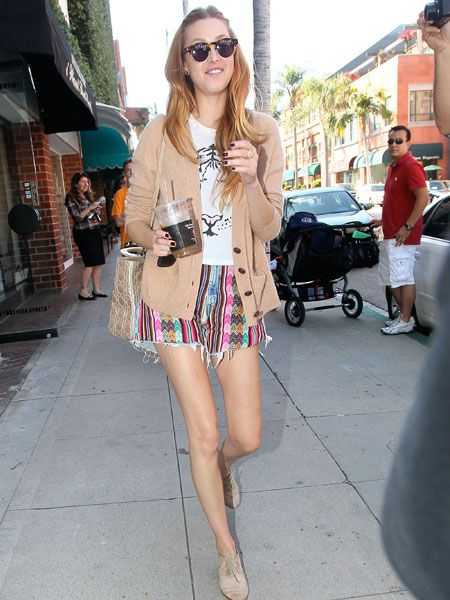 Loving Whitney's Aztec-print shorts, although her mile-long legs could maybe do with a little more meat, right?
