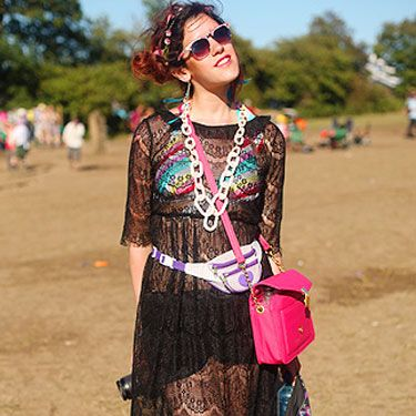 """<p>Fashion blogger Lucy embraced the sunshine in a see-through dress from LOVE and Next sunnies. Her cute pink bag is from AWear. Follow her at <a href=""""http://twitter.com/#!/shinythoughts""""target=""""_blank"""">shinythoughts</a></p>"""