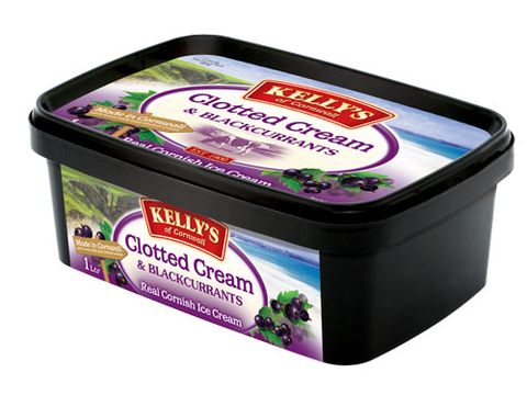 <p>Cream doesn't have to be off the menu if you're watching your weight, the deliciously smooth Clotted Cream & Blackcurrant ice cream from Kelly's of Cornwall has a refreshingly low 119 calories per 125ml serving (that's about two small coops) </p>  <p>£3.79, available at Tesco and Waitrose</p>