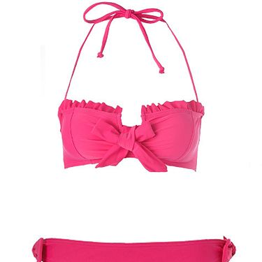 """<p>Kelly Brook knows good beach form. Like her bod, her swimwear collection for New Look is also flawless. Take this bandeau number which is super-sexy yet supportive, perfect for girls with Kelly-curves!</p><p>Top, £16.99, bottoms, £8.99, <a href="""" http://www.newlook.com/shop/womens/swimwear/kelly-brook-frill-bandeau-bikini-top_211545676"""">newlook.com</a></p>"""