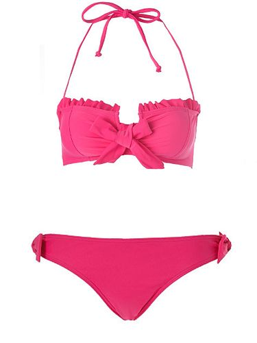 "<p>Kelly Brook knows good beach form. Like her bod, her swimwear collection for New Look is also flawless. Take this bandeau number which is super-sexy yet supportive, perfect for girls with Kelly-curves!</p>  <p>Top, £16.99, bottoms, £8.99, <a href="" http://www.newlook.com/shop/womens/swimwear/kelly-brook-frill-bandeau-bikini-top_211545676"">newlook.com</a></p>"