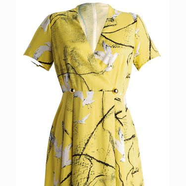 """<p>Yellow seagull print dress, £59,<a href=""""http://www.very.co.uk/fearne-cotton-seagull-print-vintage-dress/922550777.prd?browseToken=%2fb%2f1655%2c4294954879%2fs%2fnewin%2c0"""" target=""""_blank"""">Very.co.uk</a></p>"""