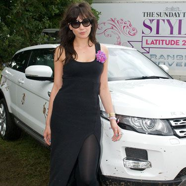 Model of the moment Daisy, showed off her skills during an impressive DJ set at Latitude festival in the Range Rover tent. She also showed off her fashion credentials in a subtle floor-length black frock with thigh high split, adding a playful pink corsage