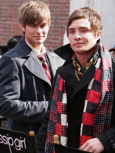 In the first season of the show Nate (Chace Crawford) and Chuck (Ed Westwick) were close buddies. This has evolved as the show's gone on, but their bromance was surely helped by the fact Chace and Ed were flatmates for a while in real life!