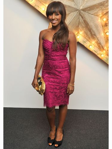 <p>Songstress Alexandra Burke was pretty in fuschia pink at the Dolce&Gabbana Net-a-Porter party. Alex spent the evening chatting to fellow fashionistas. We're loving her sophisticated hair swish look!</p>