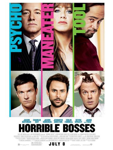<p>Horrible Bosses (Kevin Spacey, Colin Farrell, Jennifer Aniston, Jamie Foxx)</p> <p>If a double crush on Farrell and Foxx alone isn't enough to reel you in, then an eternal girl crush on JenAn should. Playing a nympho boss, she looks hotter than ever! But even more pleasingly, she's frickin' funny too. And not just in our usual we-love-her-so-smile-at-everything-she-does way but in a genuine choke-on-your-popcorn fashion. The plot follows three desperate employees who find their bosses (including a crazy sex-addict played by Jen) so intolerable they hire a hit man, known as Motherf***er Jones (Foxx) and things get very interesting. In fact, the only thing we don't like in this movie is Colin Farrell's horrible comb-over. Not sexy.</p> <p>Jacqui Meddings</p>