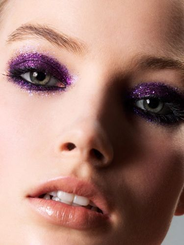 <p>Glitter is on our festival essentials list. Grab a colourful eye shadow and pile your glitter on top. A little Vaseline will help keep it in place </p>