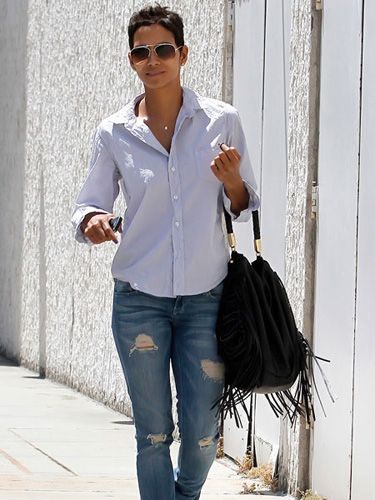 <p>Poor Halle Berry got the fright of her life when she caught a stalker in her garden last week - scary, especially with little daughter Nahla around. The Oscar winner managed a smile when she was spotted out in Los Angeles after though - what a trooper!</p>