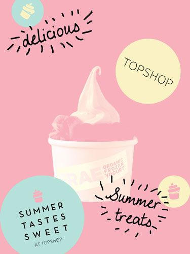 The best things in life are free and so is refreshment mid-shop this Saturday! FRAE frozen yoghurt are doing a tour of Topshop stores throughout the country and this weekend they're hitting Queens Stress in Bath and Dortmund Square, Manchester Trafford next week. Your free serving of organic frozen yoghurt also comes with a secret code that entitles you to a prize from Topshop. With 83 calories per pot – it's a winning snack.