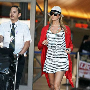 <p>Look Away now, Elisabetta Canalis. Here's Stacy Keibler, who's George Clooney rumoured new lady friend. The former professional wrestler was spotted at LAX after arriving on a flight from Zurich. Watch this space. </p>