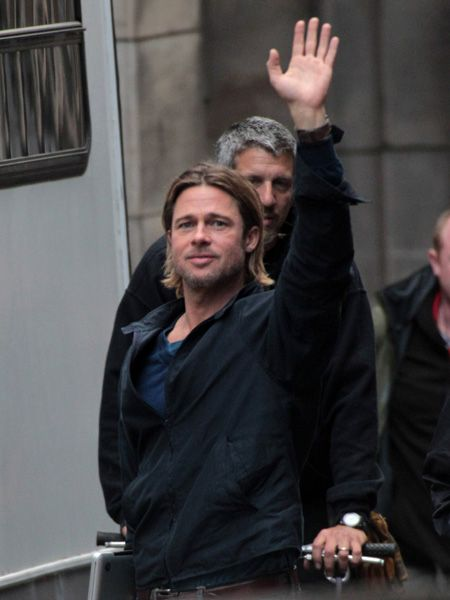 <p>We love it when Brangelina hit the UK, so lucky for us that the crew of World War Z decided Glasgow would be transformed in to Philadelphia. Sigh, how is Brad Pitt still so handsome?</p>