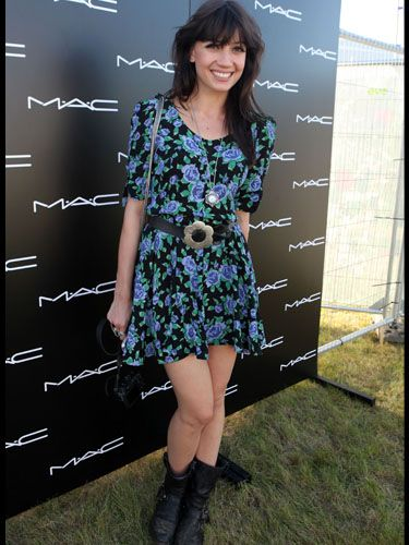 <p>Festival florals were the order of the day for Daisy Lowe in this pretty, thigh-skimming number</p>