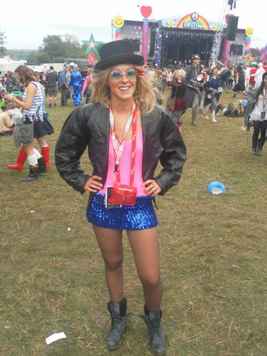 <p><strong>Who?</strong> Frankie from Guilford</p> <p><strong>What festival?</strong> Bestival</p> <p><strong>Wear?</strong> Jacket and shorts from Cow Vintage, hat from the Isle of Wight festival</p>