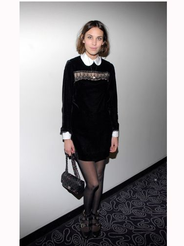 <p>Alexa is a massive fan of the 60s because it works perfectly her straight up-and-down shape and claims that Jane Birkin is her style icon. We love her trademark shift dress and Peter Pan collar look</p>