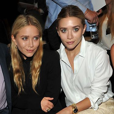 Mary-Kate and Ashley Olsen look uber-cool in their blouses&#x3B; so very grown up!