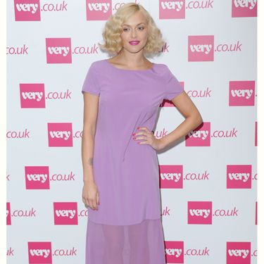 "<p>Fearne Cotton ditched the pink hair for this pink dress at her <a href=""http://www.very.co.uk/women/fearne-cotton/e/b/1589,4294954879/s/newin,0.end"">very.co.uk</a> show. Fearne is a big fan of leopard print and couldn't resist adding a hint of the print with these strappy wedges</p>"