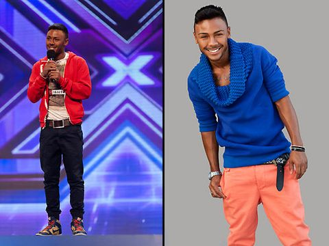 The judges are right, Marcus Collins has the cutest smile ever! We weren't sure how The X Factor Style Team could improve on his before look but they've done it and we love his bright, colourful ensemble. We won't lie though, we can't wait to see him looking dapper in a suit