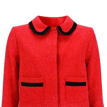 """Blame Kate Middleton for our obsession with this jacket, she brought the navy version recently and it's all sold out now. Fear not though, we now have this red one to lust over<p>£110, <a href=""""http://www.topshop.com/"""">Topshop</a></p>"""